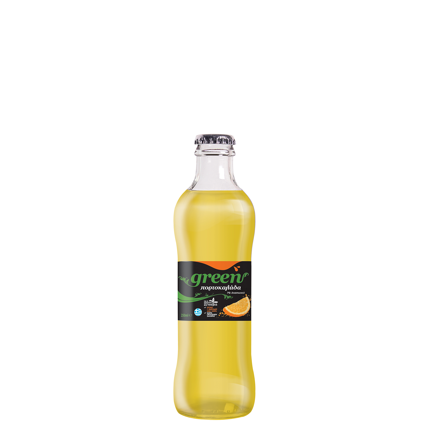 Green Orange - 250ml - Glass Bottle