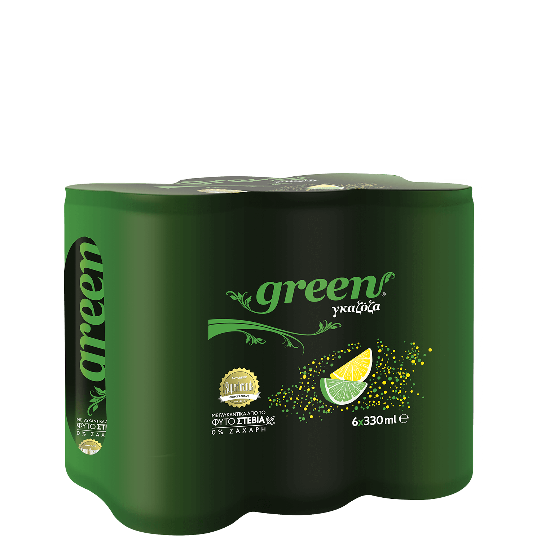 Green Lemon lime - 6x330ml - Multi pack Can