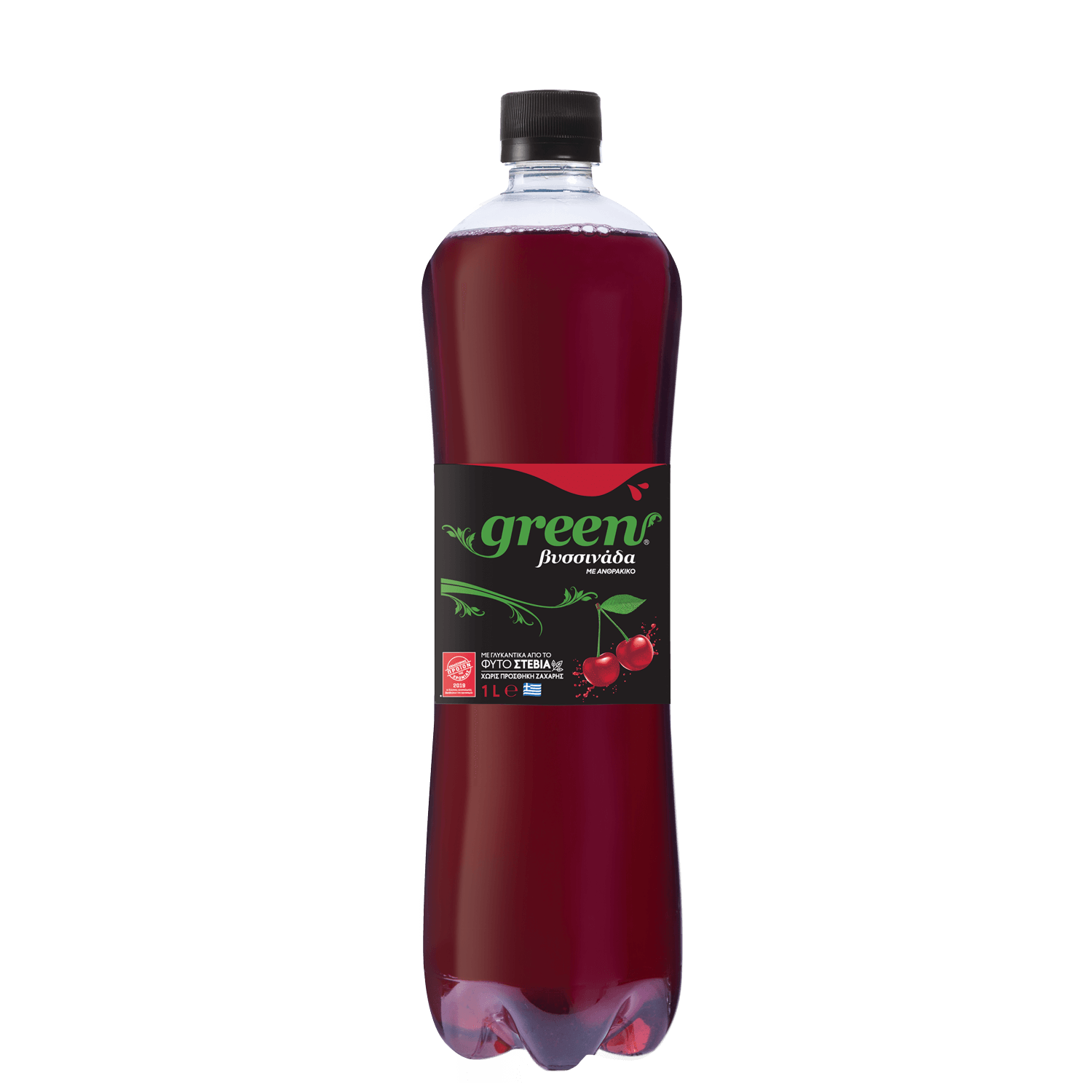 Green Cherry - PET - 1lt Bottle